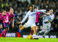Leeds United's Kemar Roofe puts his side in front from the penalty spot <br /> <br /> Photographer Alex Dodd/CameraSport<br /> <br /> The EFL Sky Bet Championship - Leeds United v Queens Park Rangers - Saturday 8th December 2018 - Elland Road - Leeds<br /> <br /> World Copyright &copy; 2018 CameraSport. All rights reserved. 43 Linden Ave. Countesthorpe. Leicester. England. LE8 5PG - Tel: +44 (0) 116 277 4147 - admin@camerasport.com - www.camerasport.com