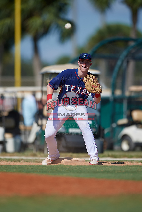 Brett Baty during the WWBA World Championship at the Roger Dean Complex on October 21, 2018 in Jupiter, Florida.  Brett Baty is a third baseman from Spicewood, Texas who attends Lake Travis High School and is committed to Texas.  (Mike Janes/Four Seam Images)