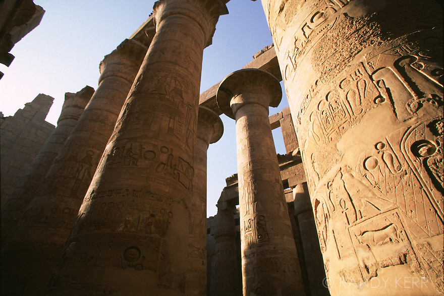 Hypostyle hall in the temple of Karnak
