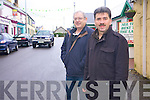 TRAFFIC: Cllr Michael O'Shea and Tom Scanlon pictured in Castlegregory village where residents are calling for a one-way system to be introduced during the summer months to ease traffic congestion. .
