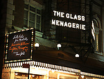 "Theatre Marquee the Broadway Opening Night Performance of ""The Glass Menagerie'"" starring Sally Fiels, Joe Mantello and Finn Wittrock at the Belasco Theatre on March 9, 2017 in New York City."