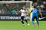 Tottenham Hotspur defender Toby Alderweireld (L) in action during the Friendly match between Kitchee SC and Tottenham Hotspur FC at Hong Kong Stadium on May 26, 2017 in So Kon Po, Hong Kong. Photo by Man yuen Li  / Power Sport Images