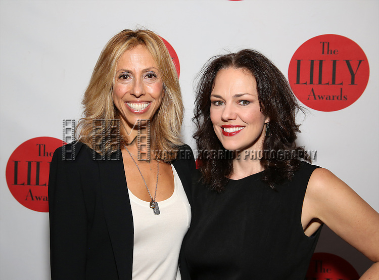 Amanda Green and Georgia Stitt attends The Lilly Awards Broadway Cabaret at the Cutting Room on October 17, 2016 in New York City.
