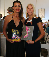 EAST HAMPTON, NY - August 10: Bridget Moynihan  and Candace Bushnell at the East Hampton Library Authors night on August 10, 2019 in East Hampton, NY. <br /> CAP/MPI98<br /> ©MPI98/Capital Pictures