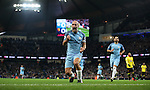 Pablo Zabaleta of Manchester City celebrates scoring during the English Premier League match at The Etihad Stadium, Manchester. Picture date: December 12th, 2016. Photo credit should read: Lynne Cameron/Sportimage