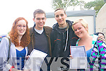 Sarah Mullin, Christopher Lynch,  Sven Rosery and  Maeve O'Donnell delighted with their leaving certificate results