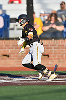 Bristol Pirates Francisco Acuna (10) runs to first base during game two of the Appalachian League, West Division Playoffs against the Johnson City Cardinals at TVA Credit Union Ballpark on August 31, 2019 in Johnson City, Tennessee. The Cardinals defeated the Pirates 7-4 to even the series at 1-1. (Tony Farlow/Four Seam Images)