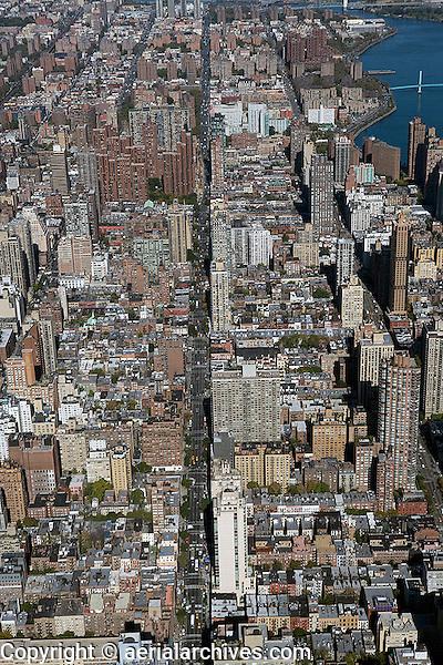 aerial photograph upper east side Manhattan, New York City