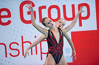 Picture by Allan McKenzie/SWpix.com - 25/11/2017 - Swimming - Swim England Synchronised Swimming National Age Group Championships 2017 - GL1 Leisure Centre, Gloucester, England - Mimi Gray & Alyssa Basinger.