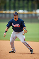 Atlanta Braves Ray Hernandez (30) during practice before a Minor League Spring Training game against the New York Yankees on March 12, 2019 at New York Yankees Minor League Complex in Tampa, Florida.  (Mike Janes/Four Seam Images)