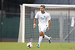 24 September 2013: North Carolina's Raby George (SWE). The University of North Carolina Tar Heels hosted the College of William and Mary Tribe at Fetzer Field in Chapel Hill, NC in a 2013 NCAA Division I Men's Soccer match. William and Mary won the game 1-0.