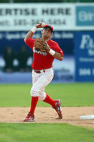 June 21st 2008:  Infielder Jose Garcia of the Batavia Muckdogs, Class-A affiliate of the St. Louis Cardinals, during a game at Dwyer Stadium in Batavia, NY.  Photo by:  Mike Janes/Four Seam Images