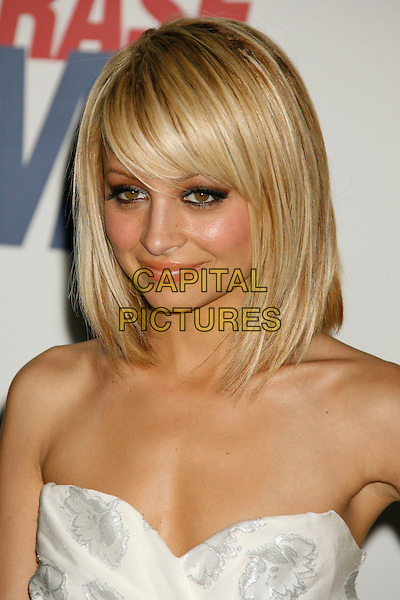 """NICOLE RICHIE.14th Annual Race to Erase MS Themed """"Dance to Erase MS"""" held at the Century Plaza Hotel, Century City, California, USA, 13 April 2007..portrait headshot blonde hair fringe bob strapless white dress .CAP/ADM/RE.©Russ Elliot/AdMedia/Capital Pictures."""