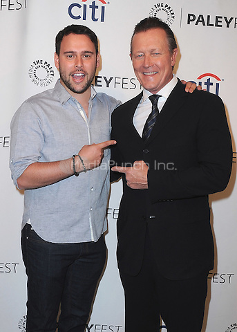 """BEVERLY HILLS, CA - SEPTEMBER 7:  Executive Producer Scooter Braun and Robert Patrick at the 10th Annual PaleyFest Fall Preview of CBS's """"Scorpion"""" at the Paley Center for the Media on September 7, 2014 in Beverly Hills, California. Credit: PGSK/MediaPunch"""