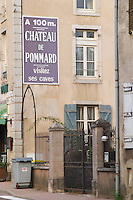 Chateau de Pommard. The village. Pommard, Cote de Beaune, d'Or, Burgundy, France
