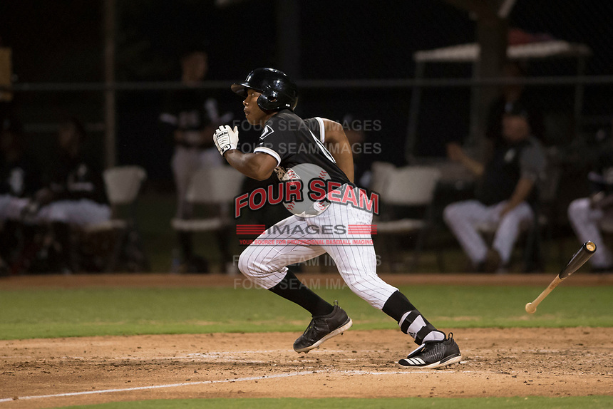 AZL White Sox third baseman Bryce Bush (61) starts down the first base line during an Arizona League game against the AZL Athletics at Camelback Ranch on July 15, 2018 in Glendale, Arizona. The AZL White Sox defeated the AZL Athletics 2-1. (Zachary Lucy/Four Seam Images)