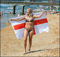 It's hotting up - World Cup fever grips Bournemouth.
