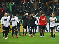 Siegesjubel Eintracht Frankfurt - 07.02.2018: Eintracht Frankfurt vs. 1. FSV Mainz 05, DFB-Pokal Viertelfinale, Commerzbank Arena