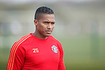 Antonio Valencia of Manchester United during the UEFA Europa League training at the AON Carrington training complex. Photo credit should read: Philip Oldham/Sportimage