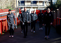 8th February 2020; Griffin Park, London, England; English Championship Football, Brentford FC versus Middlesbrough; Brentford players arriving at Griffin Park