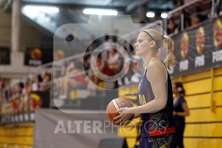 Romania´s Meszaros during end EuroBasket qualifications.July 11,2012.(ALTERPHOTOS/ARNEDO)