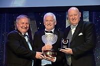 John Hurley, Tralee Musical Society, winner of the Best Technical /Gilbert Section for their production of &quot;Jesus Christ Superstar' receiving the trophy from on left, Colm Moules, President, AIMS and Seamus Power, Vice-President at the Association of Irish Musical Societies annual awards in the INEC, KIllarney at the weekend.<br /> Photo: Don MacMonagle -macmonagle.com<br /> <br /> <br /> <br /> repro free photo from AIMS<br /> Further Information:<br /> Kate Furlong AIMS PRO kate.furlong84@gmail.com