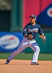 11 March 2016: Atlanta Braves infielder Emerson Landoni in action during a Spring Training pre-season game against the Philadelphia Phillies at Champion Stadium in the ESPN Wide World of Sports Complex in Kissimmee, Florida. The Phillies defeated the Braves 9-2 in Grapefruit League play. Mandatory Credit: Ed Wolfstein Photo *** RAW (NEF) Image File Available ***