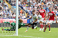 Bristol City's Niki Maenpaa saves<br /> <br /> Photographer Andrew Kearns/CameraSport<br /> <br /> The EFL Sky Bet Championship - Bolton Wanderers v Bristol City - Saturday August 11th 2018 - University of Bolton Stadium - Bolton<br /> <br /> World Copyright &copy; 2018 CameraSport. All rights reserved. 43 Linden Ave. Countesthorpe. Leicester. England. LE8 5PG - Tel: +44 (0) 116 277 4147 - admin@camerasport.com - www.camerasport.com