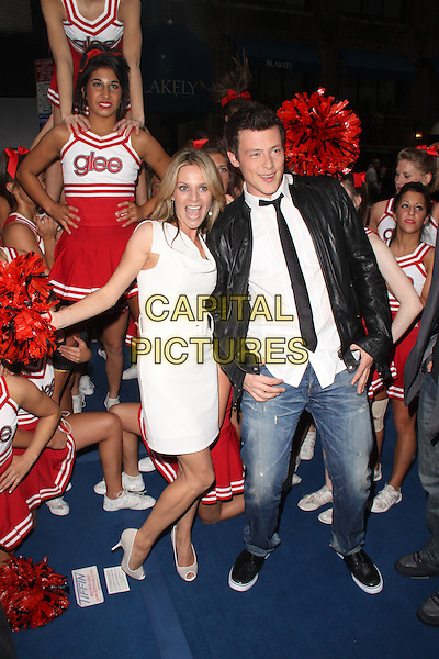 13 July 2013 - Vancouver, British Colombia, Canada - Glee star Cory Monteith was found dead Saturday in his hotel room at the Fairmont Pacific Rim Hotel in Vancouver. He was 31. The cause of death was not immediately apparent. An autopsy was set for Monday. According to police, there were no indications of foul play. They would not discuss what, if anything, was found in room. File Photo: 18 May 2009 - New York, NY - Jessalyn Gilsig and Cory Monteith. The Glee Cheerleaders performance at Fox's Upfront presentation held at New York City Center. <br /> CAP/ADM/PZ<br /> &copy;Paul Zimmerman/AdMedia/Capital Pictures