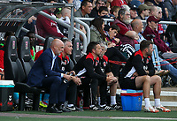 Fleetwood Town manager Uwe Rosler on the Fleetwood bench<br /> <br /> Photographer Andrew Kearns/CameraSport<br /> <br /> The EFL Sky Bet League One - Northampton Town v Fleetwood Town - Saturday August 12th 2017 - Sixfields Stadium - Northampton<br /> <br /> World Copyright &copy; 2017 CameraSport. All rights reserved. 43 Linden Ave. Countesthorpe. Leicester. England. LE8 5PG - Tel: +44 (0) 116 277 4147 - admin@camerasport.com - www.camerasport.com