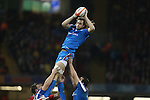 Joshua Furno takes the line out ball for Italy.<br /> RBS 6 Nations 2014<br /> Wales v Italy<br /> Millennium Stadium<br /> 01.02.14<br /> <br /> ©Steve Pope-SPORTINGWALES