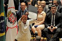 SÃO PAULO,SP,18.12.2018 - DIPLOMAÇÃO-SP - Leci Brandao  durante cerimonia de diplomação dos candidatos eleitos para assumir o cargo em janeiro 2019. A cerimonia foi realizada na sala Sao Paulo nesta terça-feira, 18. (Foto Dorival Rosa/Brazil Photo Press)