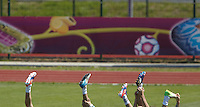 EURO 2012 - POLAND - Gniewino - 13 JUNE 2012 - Spain National Team official MD-1 training. Spanish legs during the training session.