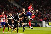 31st October 2017, Wanda Metropolitano, Madrid, Spain; UEFA Champions League, Atletico Madrid versus Qarabag FK; Fernando Torres (9) of Atletico Madrid tries the back heel towards goal
