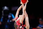 Chisaki Oiwa (JPN), <br /> AUGUST 27, 2018 - Gymnastics - Rhythmic : <br /> Individual All-Around Qualification Ball <br /> at JIEX Kemayoran Hall D <br /> during the 2018 Jakarta Palembang Asian Games <br /> in Jakarta, Indonesia. <br /> (Photo by Naoki Morita/AFLO SPORT)