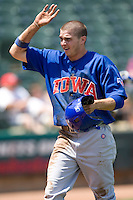 Iowa Cubs 3B Tony Campana (7) against the Round Rock Express on April 10th, 2011 at Dell Diamond in Round Rock, Texas.  (Photo by Andrew Woolley / Four Seam Images)