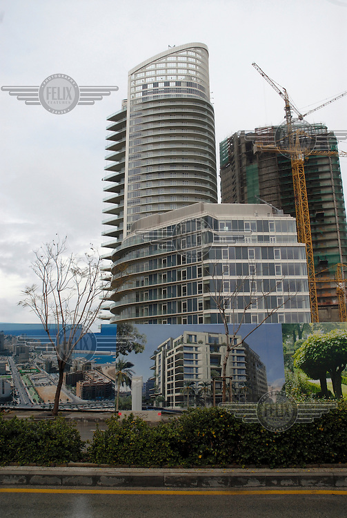 New construction in downtown Beirut.