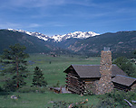 Historic log cabin in Moraine Park, Rocky Mtn Nat'l Park, CO