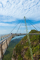 Langkawi Sky Bridge, Andaman sea and mountains, Malaysia
