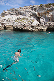 EXUMA, Bahamas. Snorkeling and exploring around and inside the Thunderball Cave.