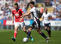 Bolton Wanderers' Antonee Robinson with Nottingham Forest's Ben Brereton<br /> <br /> Photographer Rachel Holborn/CameraSport<br /> <br /> The EFL Sky Bet Championship - Bolton Wanderers v Nottingham Forest - Sunday 6th May 2018 - Macron Stadium - Bolton<br /> <br /> World Copyright &copy; 2018 CameraSport. All rights reserved. 43 Linden Ave. Countesthorpe. Leicester. England. LE8 5PG - Tel: +44 (0) 116 277 4147 - admin@camerasport.com - www.camerasport.com