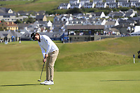 Pedro Figueiredo (POR) putts on the 1st green during Thursday's Round 1 of the Dubai Duty Free Irish Open 2019, held at Lahinch Golf Club, Lahinch, Ireland. 4th July 2019.<br /> Picture: Eoin Clarke | Golffile<br /> <br /> <br /> All photos usage must carry mandatory copyright credit (© Golffile | Eoin Clarke)
