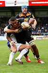 London Wasps' Nathan Hughes backed up by London Wasps' James Haskell - Rugby Union - 2014 / 2015 Aviva Premiership - Wasps vs. Bath - Adams Park Stadium - London - 11/10/2014 - Pic Charlie Forgham-Bailey/Sportimage