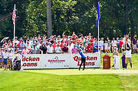 Bethesda, MD - July 1, 2018:Kyle Stanley tee's off at the first hole during final round of professional play at the Quicken Loans National Tournament at TPC Potomac at Avenel Farm in Bethesda, MD.  (Photo by Phillip Peters/Media Images International)