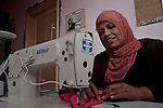 Salha Mugat earned a living with her sewing machine until an Israeli rocket crashed into her house in December 2009, destroying her equipment and severely damaging her house. With a $4,500 grant from the YMCA, a member of the ACT Alliance, she has reestablished herself in business with three new machines, an electric generator, and a stockpile of cloth. Her husband Samir used to support the family with a job working in citrus groves in Israel, until the Israeli government sealed off the Gaza Strip. During that time, he was injured in the eye when a Palestinian rocket, launched from Gaza, exploded nearby. In January 2011, he was receiving medical treatment for the eye injury in Egypt when political demonstrations there closed the border with Gaza, trapping him in Egypt.