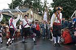 Greenfield Saddleworth Yorkshire UK. Morris men and Saddleworth Rushcart.