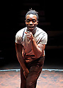 The Brothers Size by Tarell Alvin McCraney , A Co Production between Young Vic and Actors Touring Company directed by Bijan Sheibani. With Jonathan Ajayi as Oshoosi. Opens at The Young Vic Theatre on 26/1/18. CREDIT Geraint LewisEDITORIAL USE ONLY