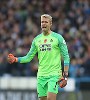 Huddersfield Town's Jonas Lossl<br /> <br /> Photographer Rob Newell/CameraSport<br /> <br /> The Premier League - Huddersfield Town v West Ham United - Saturday 10th November 2018 - John Smith's Stadium - Huddersfield<br /> <br /> World Copyright © 2018 CameraSport. All rights reserved. 43 Linden Ave. Countesthorpe. Leicester. England. LE8 5PG - Tel: +44 (0) 116 277 4147 - admin@camerasport.com - www.camerasport.com