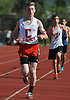 Connetquot junior Tim Monahan cruises to victory in the 1,600 meter race during a Suffolk County boys' track and field meet against Middle Country at Connetquot High School on Thursday, May 14, 2015.<br /> <br /> James Escher