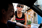 Giuseppe Maniaci and his daughter Laetizia...Partinico, Sicily, Italy - June 2006